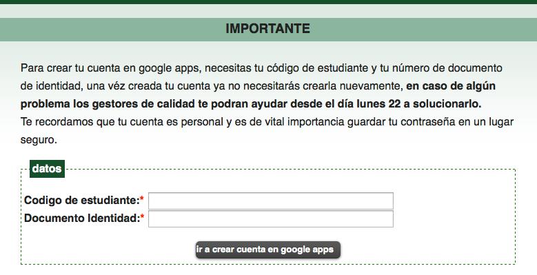 Crear google apps